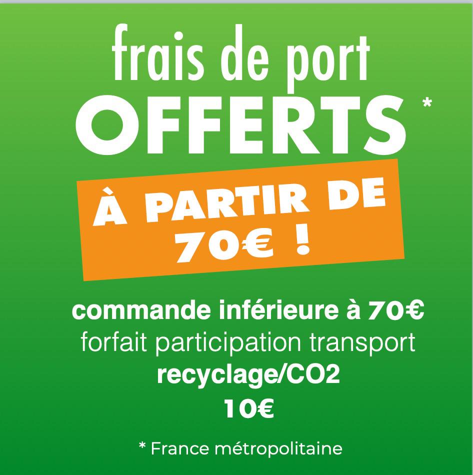 Frais de port offerts dès 50€